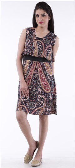 650067, dress, Pashmina, Printed, Multicolor Color Family