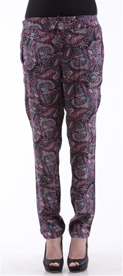 650073 Multicolor  color family Jeggings in Pashmina fabric with Printed work .