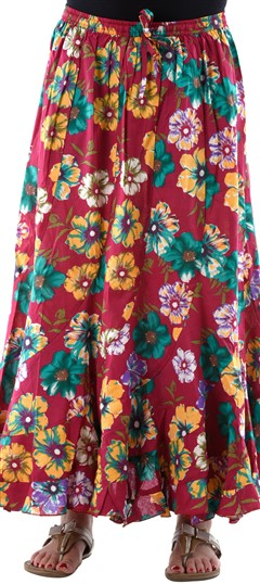 650108, Bottoms & Shorts, Cotton, Floral, Printed, Red and Maroon Color Family