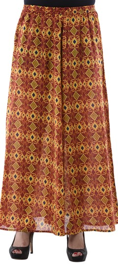 650114 Red and Maroon  color family Palazzo in Cotton fabric with Printed work .