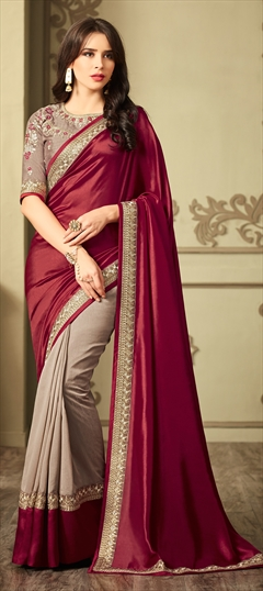 EID Collection, Party Wear Sarees, Satin