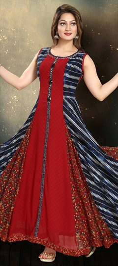 904974 Multicolor  color family Kurti in Faux Georgette fabric with Printed work .