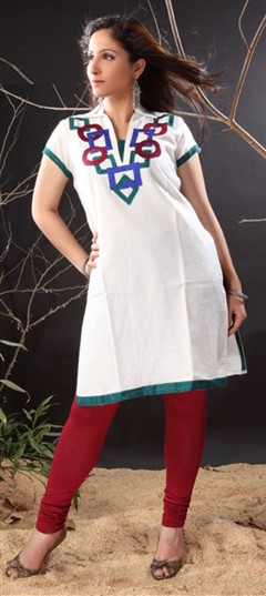 92166 White and Off White  color family Cotton Salwar Kameez in Cotton fabric with Printed,Thread work .
