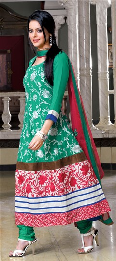 99866, Party Wear Salwar Kameez, Bollywood Salwar Kameez, Green Color Family