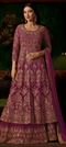 1500540: Pink and Majenta color Salwar Kameez in Georgette fabric with Machine Embroidery, Stone, Thread, Zari work