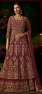 1500541: Pink and Majenta color Salwar Kameez in Georgette fabric with Machine Embroidery, Stone, Thread, Zari work
