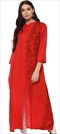 1500844: Red and Maroon color Kurti in Rayon fabric with Printed work