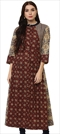 1500847: Casual, Designer Multicolor color Kurti in Cotton fabric with Printed work