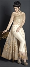 1503716: Bollywood Beige and Brown color Salwar Kameez in Net fabric with Slits Embroidered, Stone, Thread, Zari work