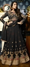 1504168: Black and Grey color Salwar Kameez in Faux Georgette fabric with Embroidered, Resham, Stone, Thread, Zari work