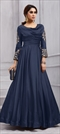 1505827: Party Wear Blue color Gown in Art Silk fabric with  Embroidered, Stone, Thread, Zari work