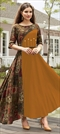 1509770: Casual Beige and Brown, Orange color Kurti in Rayon fabric with Printed work