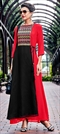 1510210: Casual Black and Grey, Red and Maroon color Kurti in Georgette fabric with Embroidered, Thread work