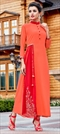 1510214: Casual Orange color Kurti in Georgette fabric with Embroidered, Thread work