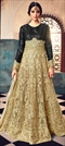 1514327: Bollywood Beige and Brown, Black and Grey color Salwar Kameez in Net fabric with Abaya, Anarkali Embroidered, Resham, Sequence, Stone, Thread, Zari work