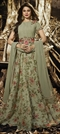 1518365: Casual Green color Gown in Silk fabric with Embroidered, Lace, Resham, Stone, Thread, Zari work