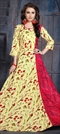 1519026: Casual Red and Maroon, Yellow color Kurti in Rayon fabric with Printed work