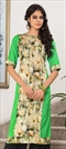 1522588: Casual Multicolor color Kurti in Cotton fabric with Floral, Printed work