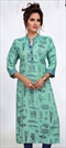 1526832: Casual Green color Kurti in Rayon fabric with Printed work