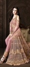 1527963: Party Wear Pink and Majenta color Salwar Kameez in Net fabric with Slits Embroidered, Sequence, Thread, Zari work
