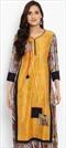 1530482: Casual Orange color Kurti in Chanderi Silk fabric with Printed work