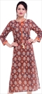 1530862: Casual, Designer Multicolor color Kurti in Cotton fabric with Printed work