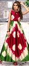 1532045: Casual Multicolor color Kurti in Satin Silk fabric with Broches, Printed, Tye n Dye work