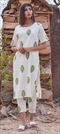 1532174: Designer White and Off White color Tunic with Bottom in Cotton fabric with Printed work