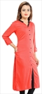 1533044: Designer Red and Maroon color Kurti in Rayon fabric with Thread work