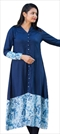 1533045: Designer Blue color Kurti in Rayon fabric with Thread work