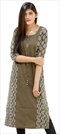 1533050: Designer Beige and Brown color Kurti in Cotton fabric with Printed work