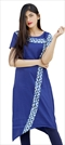 1533057: Designer Blue color Kurti in Rayon fabric with Printed work
