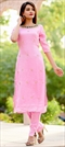 1533336: Designer Pink and Majenta color Tunic with Bottom in Georgette fabric with Sequence work