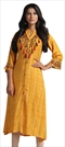 1534723: Designer Yellow color Kurti in Rayon fabric with Thread work