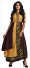 1534725: Designer Beige and Brown color Kurti in Rayon fabric with Printed work