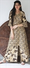 1535421: Casual Beige and Brown color Kurti in Rayon fabric with Printed work