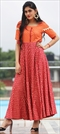 1535424: Casual Orange color Kurti in Cotton fabric with Printed work