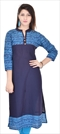 1538634: Designer Blue color Kurti in Cotton fabric with Printed work