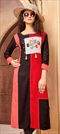 1540228: Casual Multicolor color Kurti in Rayon fabric with Printed work