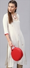 1546968: Casual White and Off White color Kurti in Rayon fabric with Printed work
