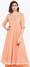 1546969: Casual Pink and Majenta color Kurti in Rayon fabric with Lace, Thread work