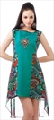 453888: Casual, Designer Multicolor color Kurti in Faux Georgette fabric with Embroidered, Patch, Printed, Stone work