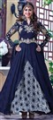 483983 Blue  color family Anarkali Suits in Faux Georgette fabric with Machine Embroidery,Resham,Thread,Zari work .