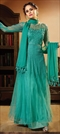 902485 Green  color family Party Wear Salwar Kameez in Net fabric with Bugle Beads,Lace,Machine Embroidery,Resham,Stone,Thread,Zari work .