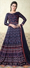 903287 Multicolor  color family Anarkali Suits in Satin Silk fabric with Printed work .
