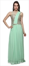 903475 Green  color family gown in Georgette, Net fabric with Dabka, Machine Embroidery, Thread work .