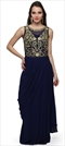 903476 Blue  color family gown in Georgette,Net fabric with Machine Embroidery,Stone,Thread,Zari work .