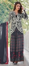906946 Black and Grey  color family Party Wear Salwar Kameez in Art Silk fabric with Printed work .