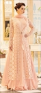 909269 Pink and Majenta  color family Party Wear Salwar Kameez in Georgette fabric with Machine Embroidery,Resham,Thread work .