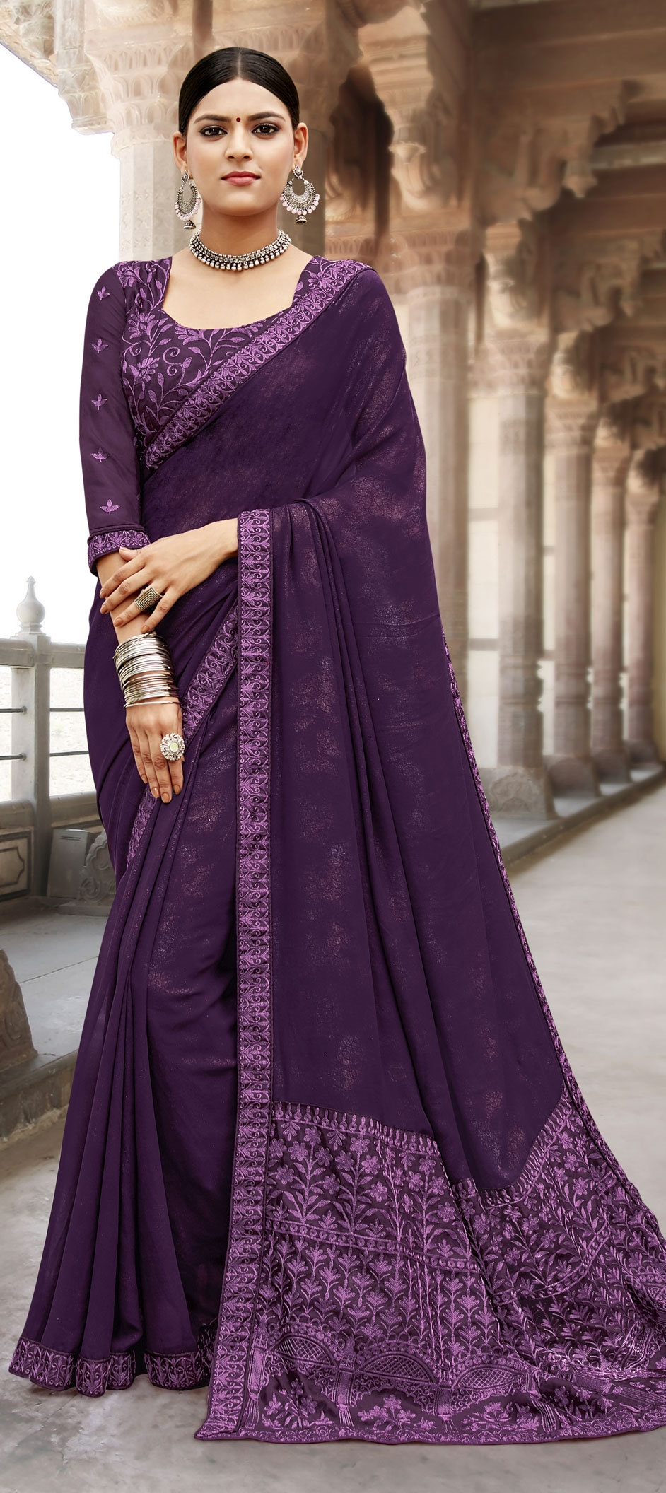 buy embroidery sarees